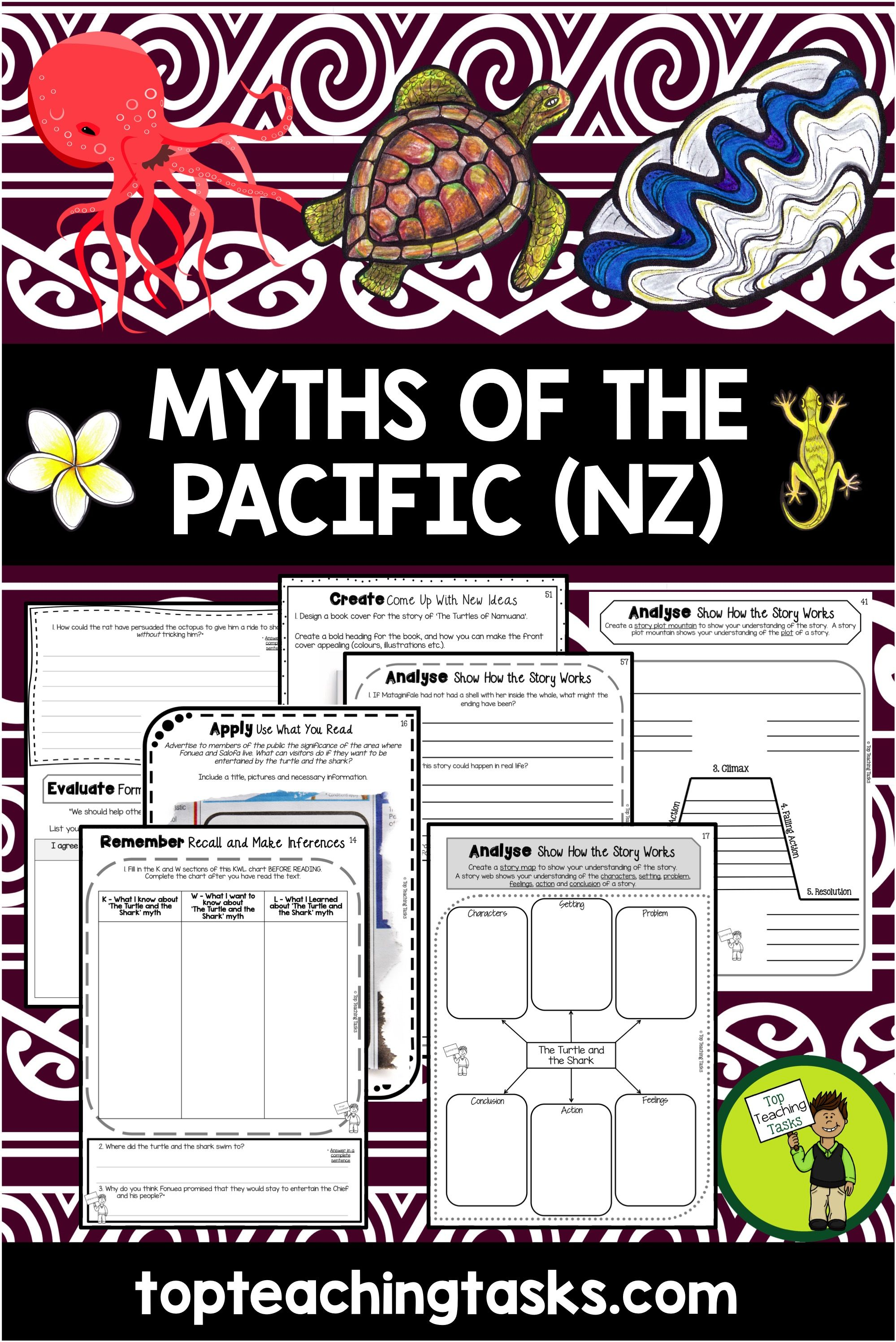 Myths And Legends Pacific Islands Reading Comprehension