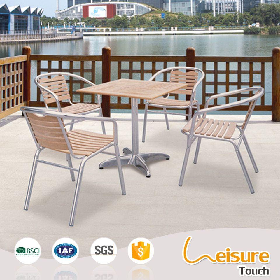 Popular Outdoor Furniture Aluminum Table And Chair For Restaurant - Aluminum table and chairs for restaurant