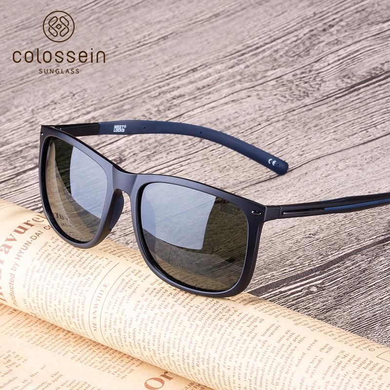 COLOSSEIN Brand Design TR90 Unbreakable Light-weight Frame Polarized Lenses Sunglasses