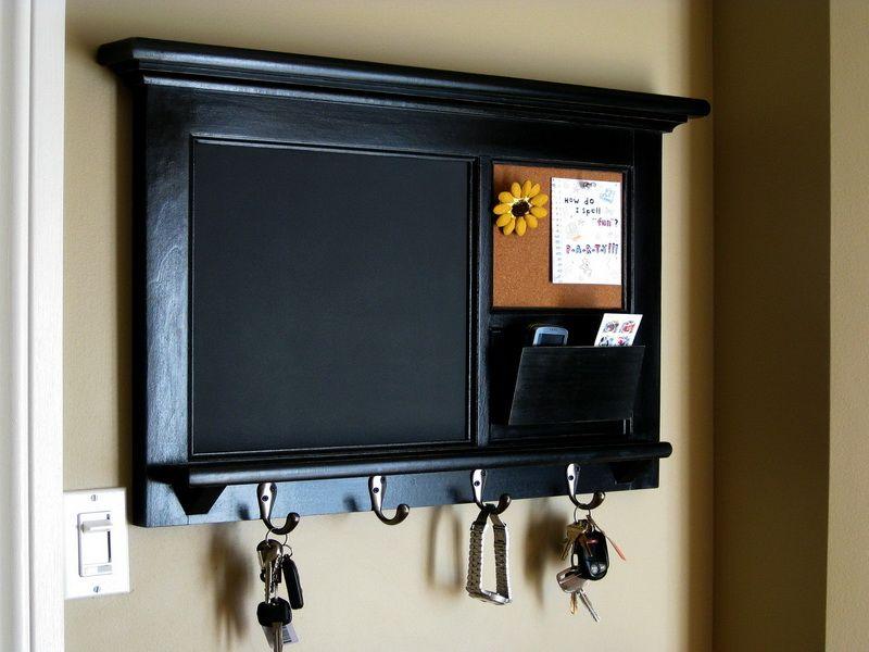 Kitchen Chalkboard Mail Bulletin Organizer Ideas Decoration Inspiration