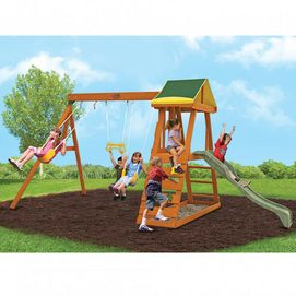 Big Backyard By Solowave Madison Play System Sears Wooden Swing Set Playset Outdoor