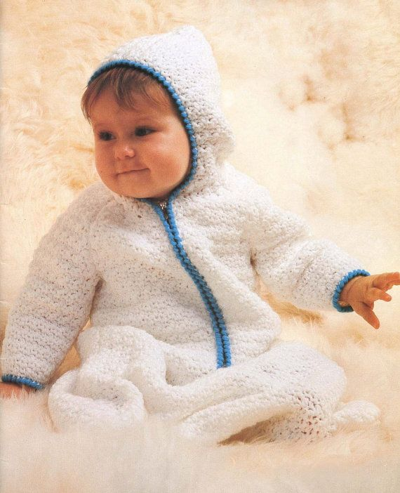 Baby Bunting Crochet Pattern by VintageEtsian on Etsy, $5 ...