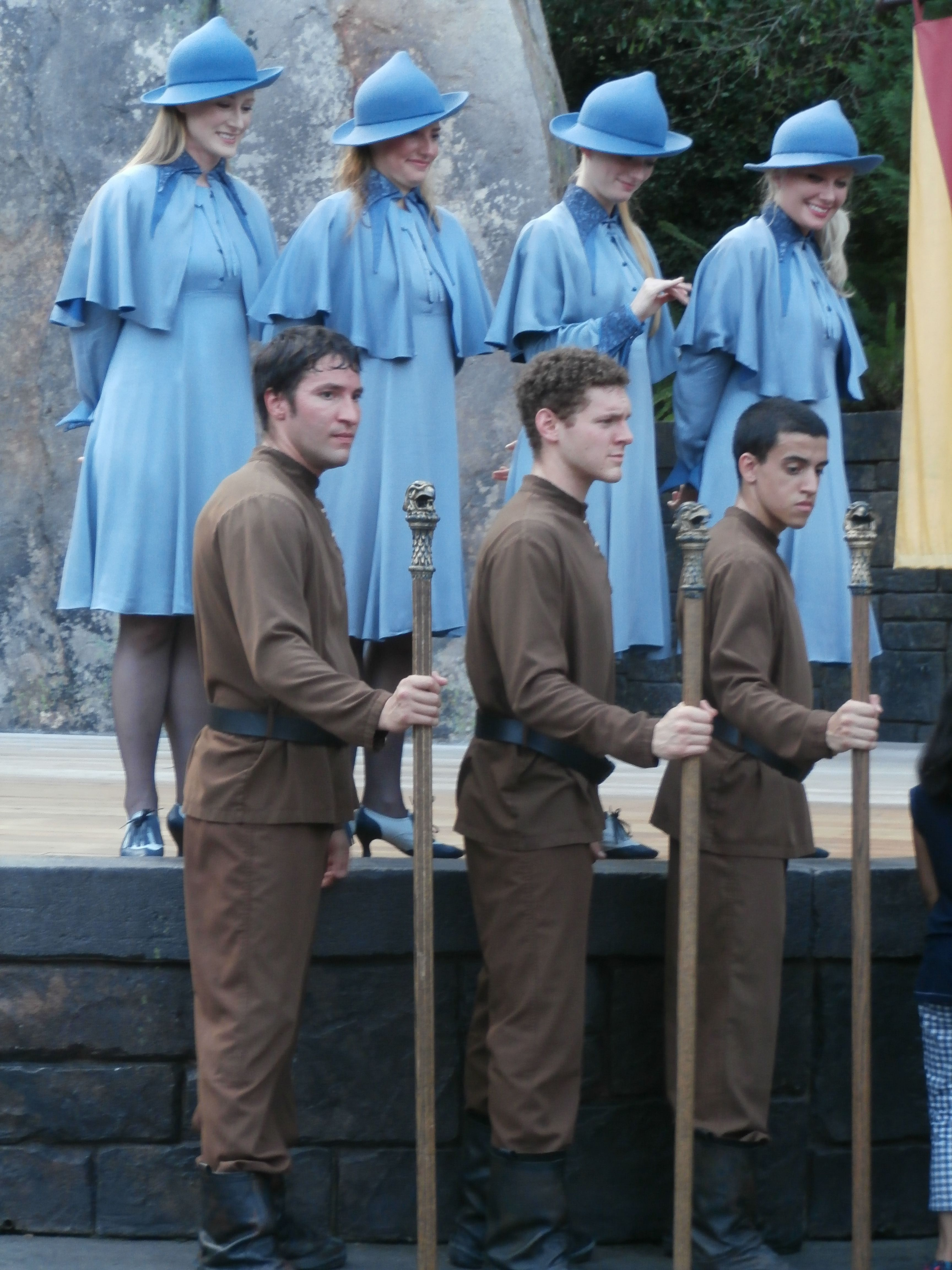 Tmn Durmstrang And Beauxbatons At Harry Potter Orlando Florida Harry Potter Outfits Harry Potter Orlando Harry Potter Yule ball crossover canada goose jackets character design winter jackets stairs cosplay costumes boys. pinterest