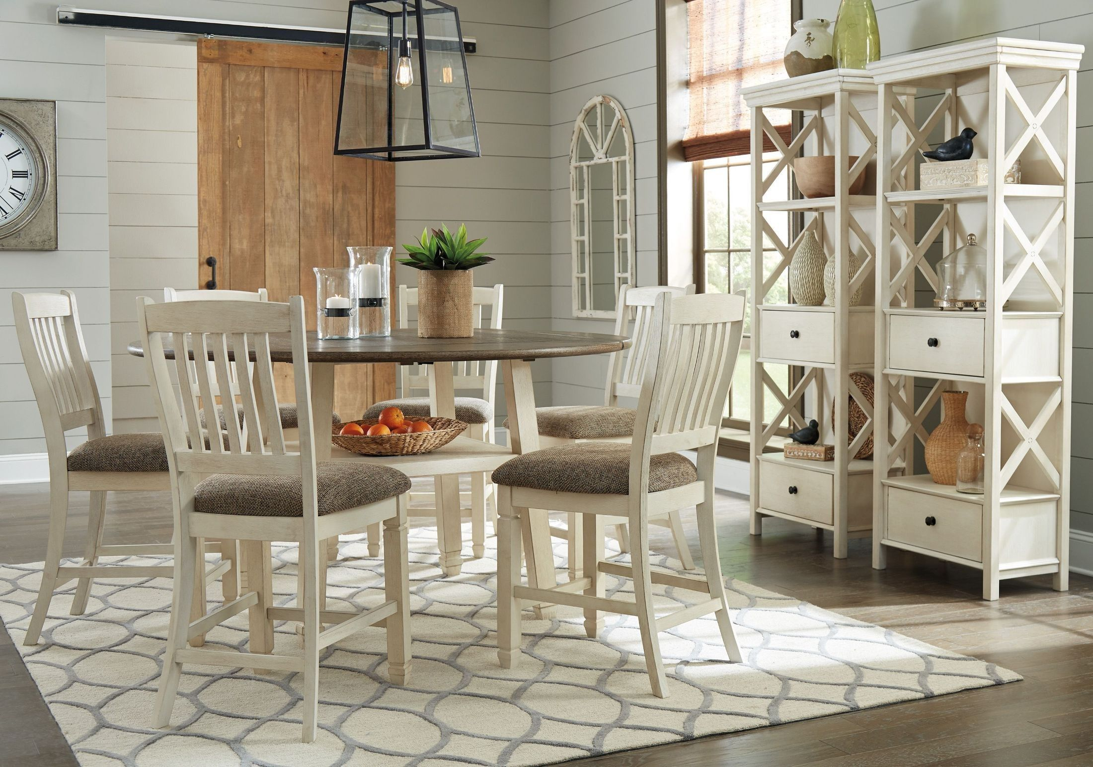 Bolanburg Twotone Round Counter Height Dining Room Set