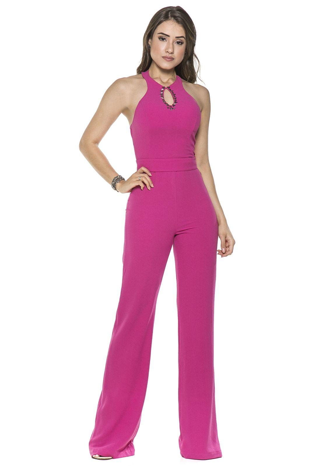 d938a7f6c88439 Macacão Celestine Pink com Bordados in 2019 | Overal ruha | Ruhák