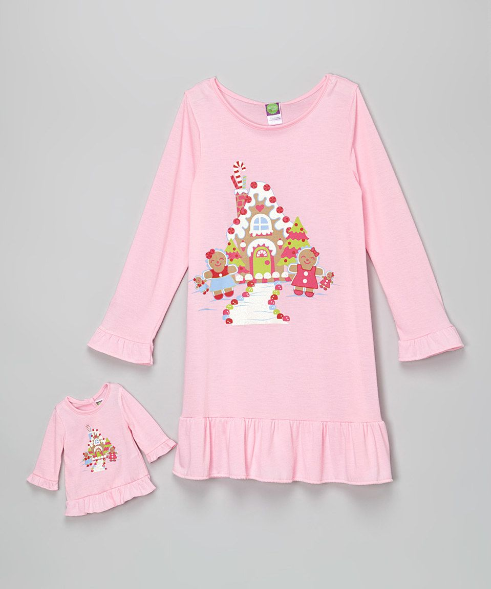 Pink Gingerbread House Nightgown   Doll Outfit - Girls by Dollie   Me   zulilyfinds 66af4607c