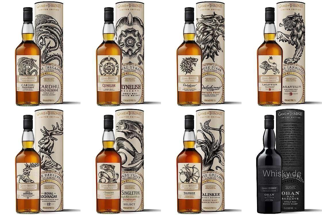 game of thrones single malt scotch whisky kollektion