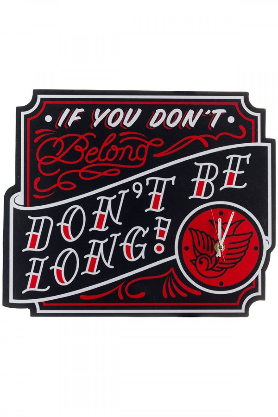 Sourpuss Don T Belong Clock Retro Tattoos Screen Printing