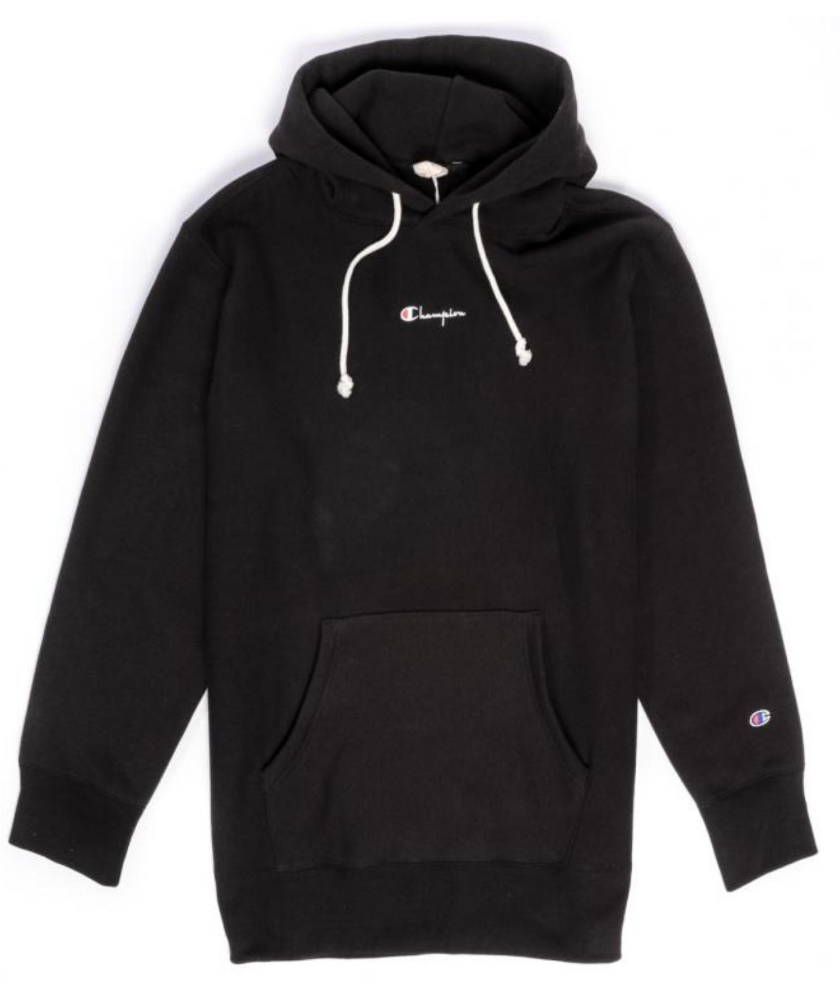 Champion Reverse Weave Super Oversize Logo Small Script Hoodie Black Black Hoodie Champion Reverse Weave Hoodies [ 2040 x 1722 Pixel ]