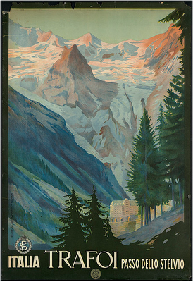 travel poster for Trafoi, a town in the Italian Alps