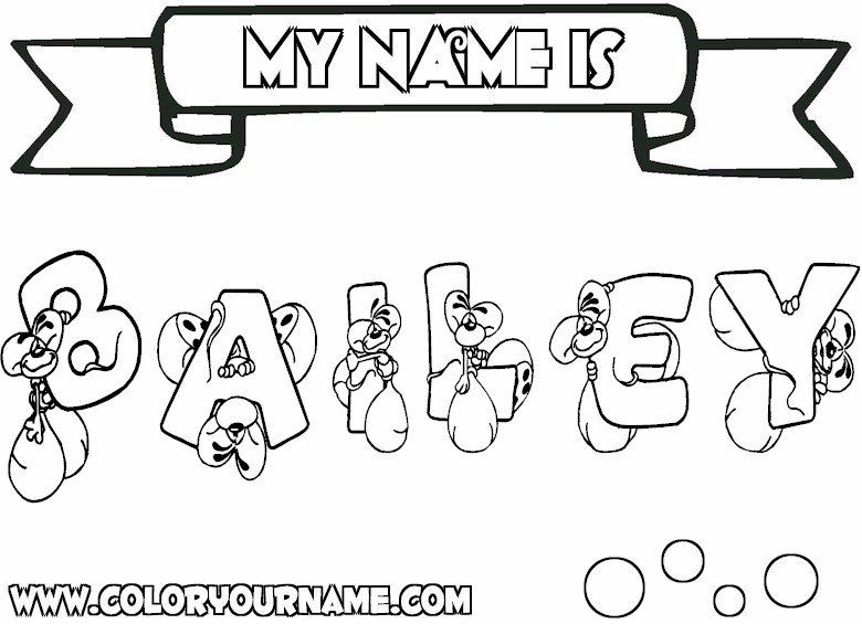 Coloring Pages That Say Your Name | Drawing & Coloring ...