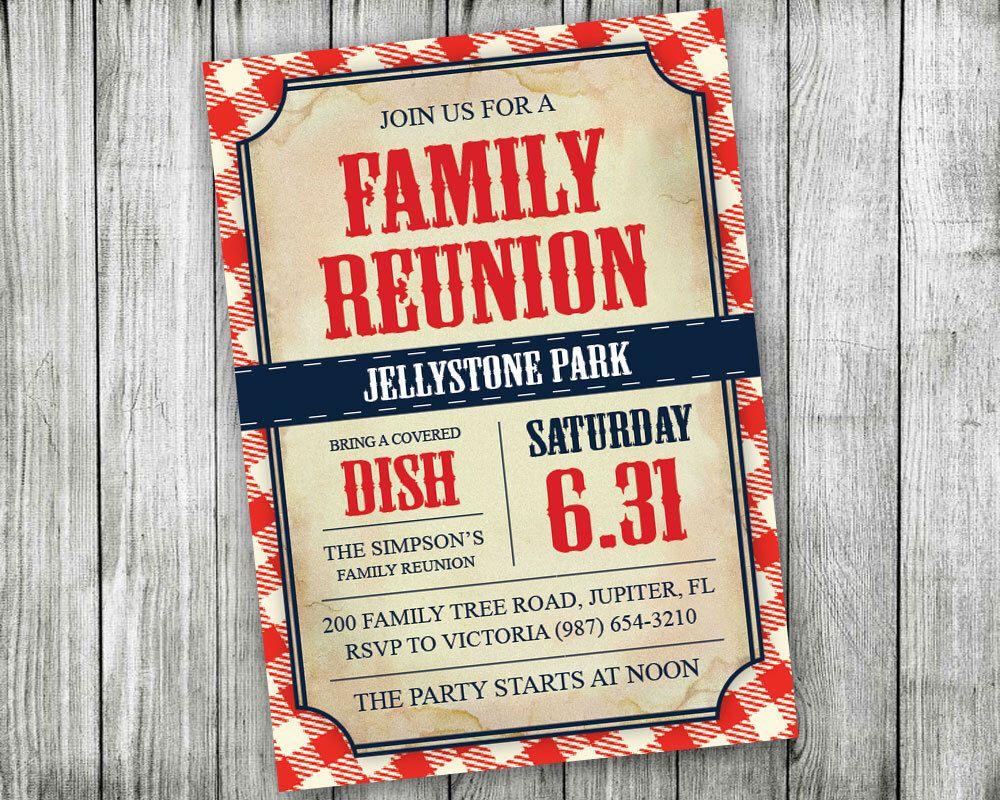 printable family reunion invitations backyard bbq invitations