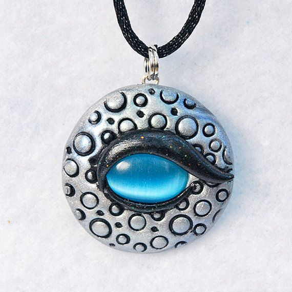Dragon eye pendant silver polymer clay dragon eye necklace dragon eye pendant silver polymer clay dragon eye necklace mystical fantasy jewelry silver and blue dragon amulet geeky gift aloadofball Image collections