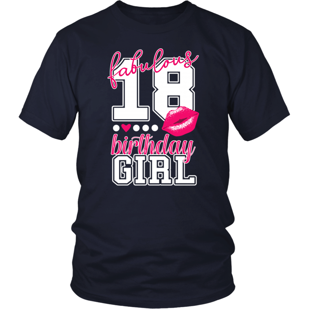 Pink Kiss Birthday Girl Fabulous 18 Years Old 18th T Shirt With Images Birthday Kiss Girl Birthday 18th Birthday Gifts