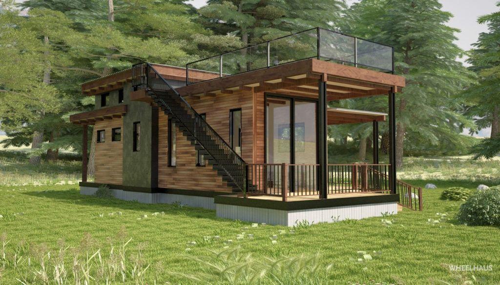 Best Flat Roof Caboose Wheelhaus Flat Roof House 640 x 480