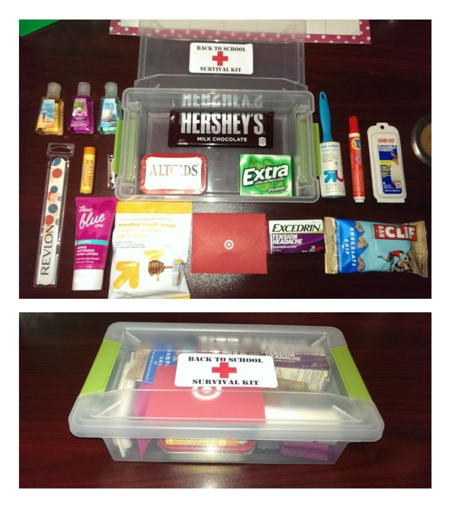 Back To School Survival Kit Great Thank You Gift For