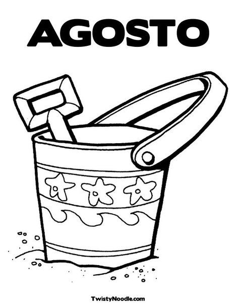 AGOSTO | Meses y días | Pinterest | Dibujos