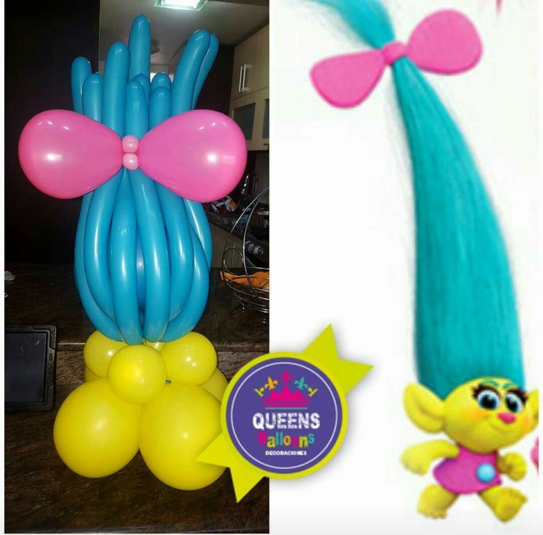 Pin by sandra montiel rivas on trolls pinterest troll for Ballon decoration ideas