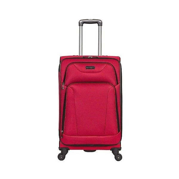 Heritage Wicker Park Polyester  Wheel Expandable Upright Suitcase ($70) ❤ liked on Polyvore featuring bags, luggage and barn red