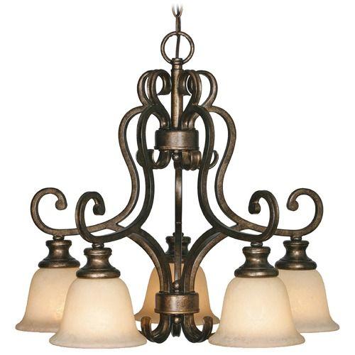Golden Lighting Heartwood Burnt Sienna Chandelier | 8063-D5BUS | Destination Lighting
