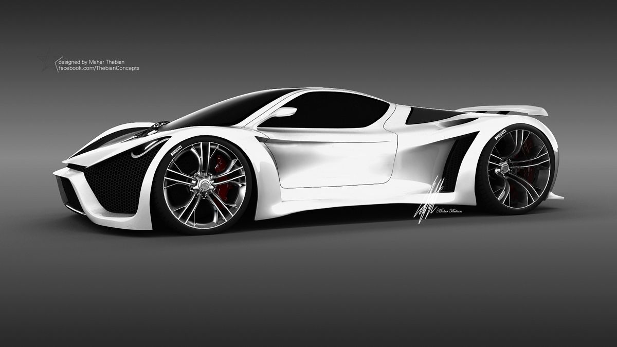 future car render pagani thawra by thebian concepts