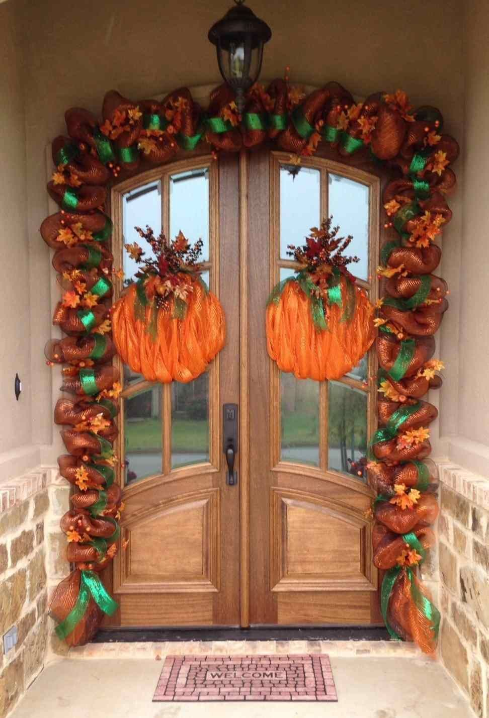 Image Result For Hanging Garland Around Front Door Or Porch Fall