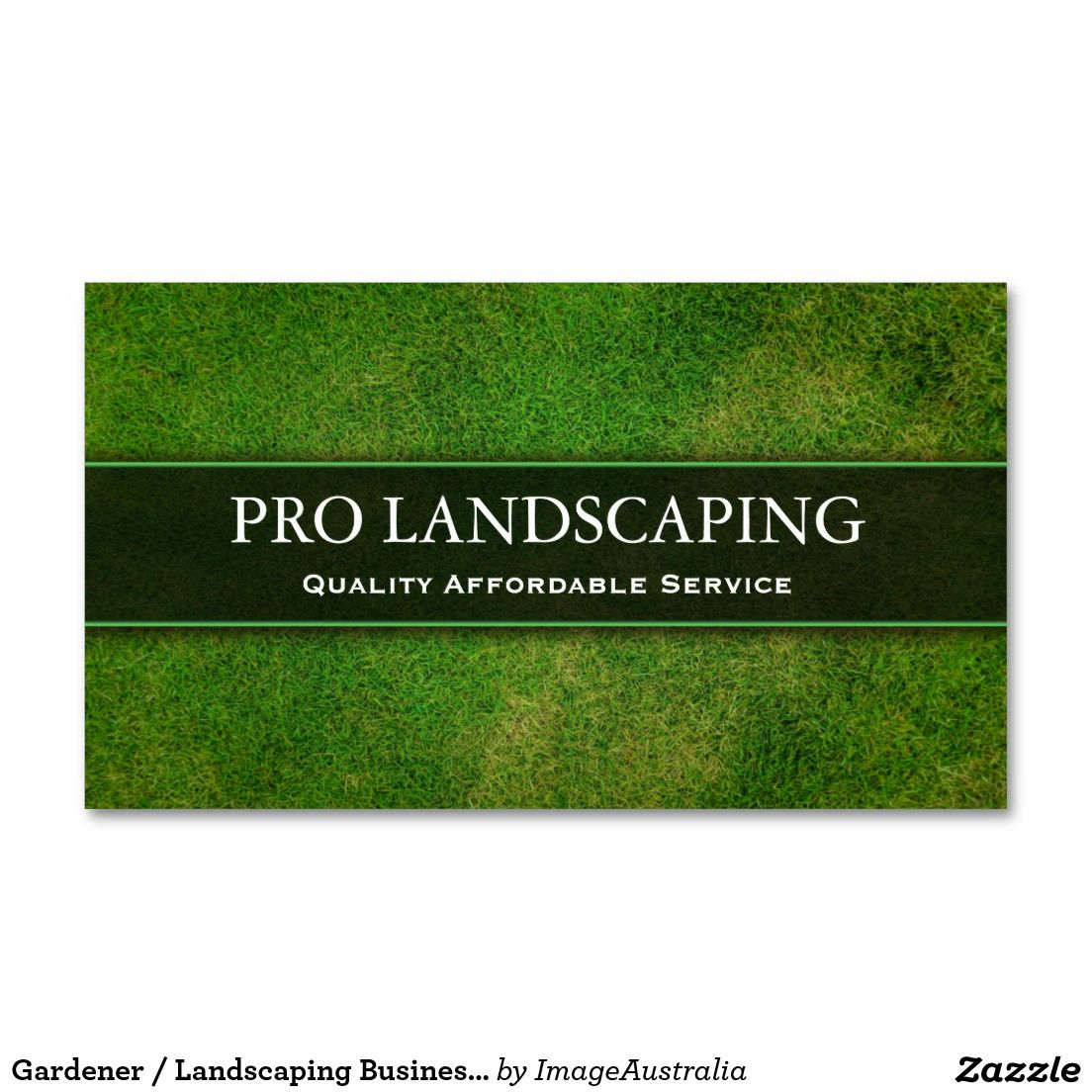 Gardener / Landscaping Business Card | Landscaping, Business and Cards