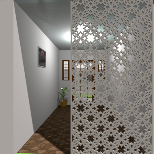 Ornamental Panel Jali Screen Partition Designs Can Be Used In Countless Projects Contours With A Clean Design Le Partition Design Painted Screen Doors Design