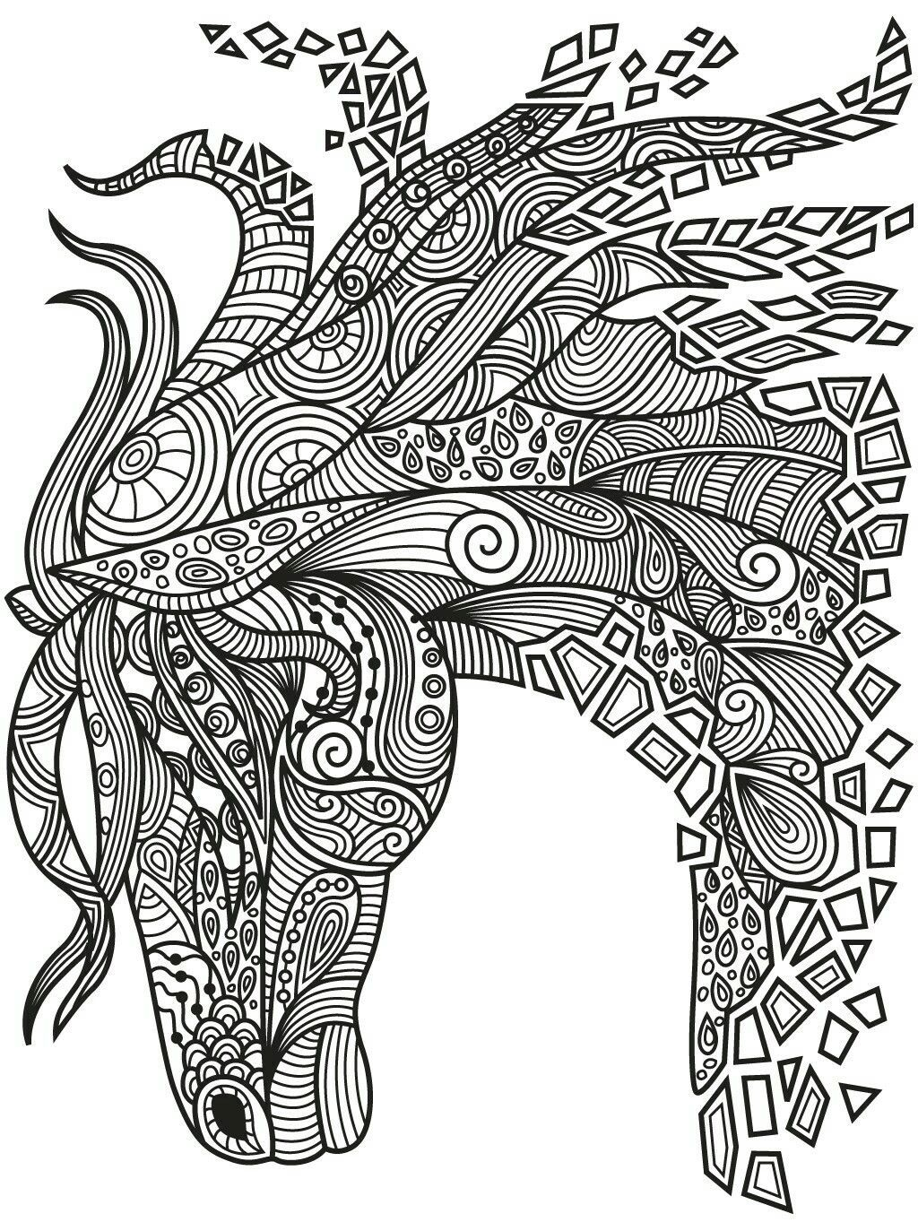 Best Zentangle Horse Colorish Coloring Book App For Adults
