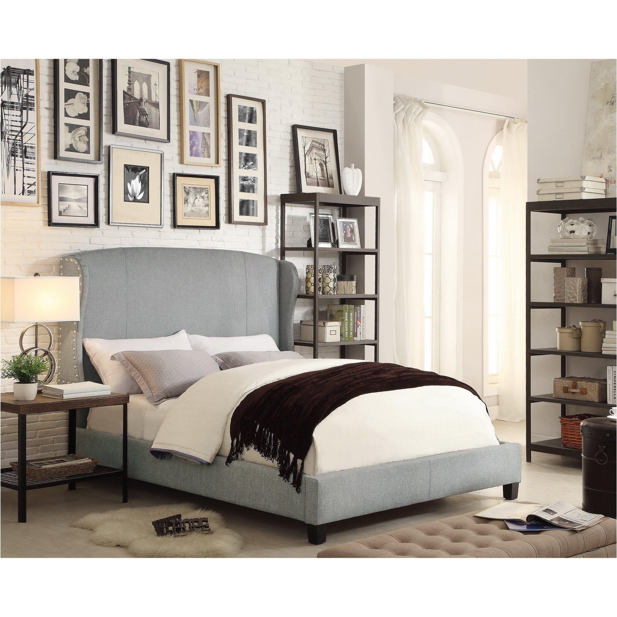 Customer Image Zoomed Upholstered panel bed, Upholstered