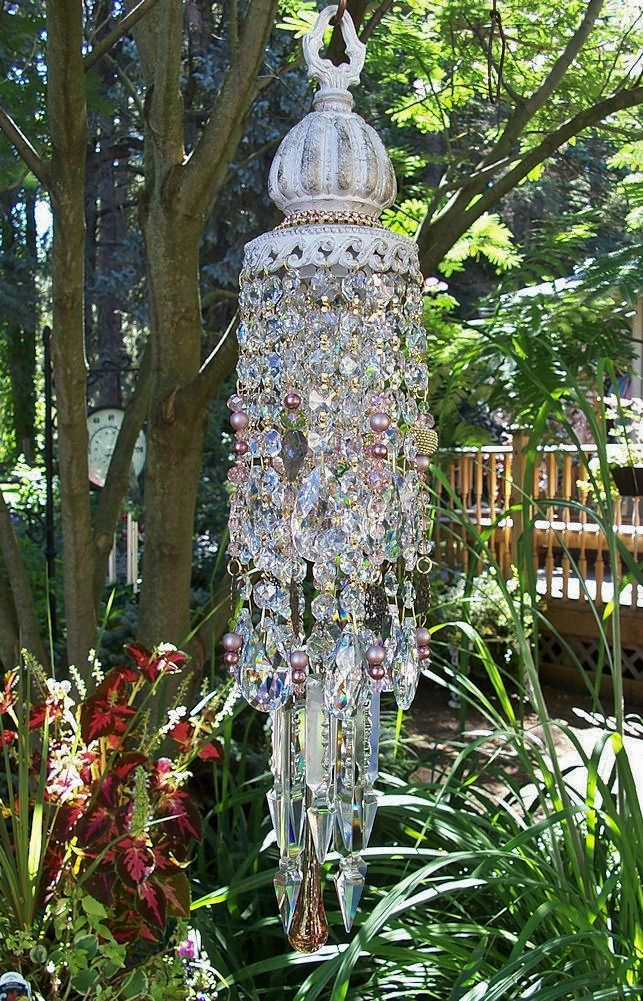 Jeweled Victorian Garden Antique Crystal Wind Chime | Victorian ...