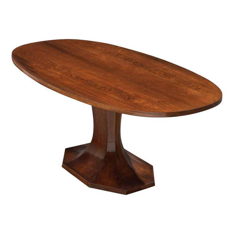 Italian Pedestal Dining Table In Rosewood Pedestal Dining Table Dining Table Double Pedestal Dining Table