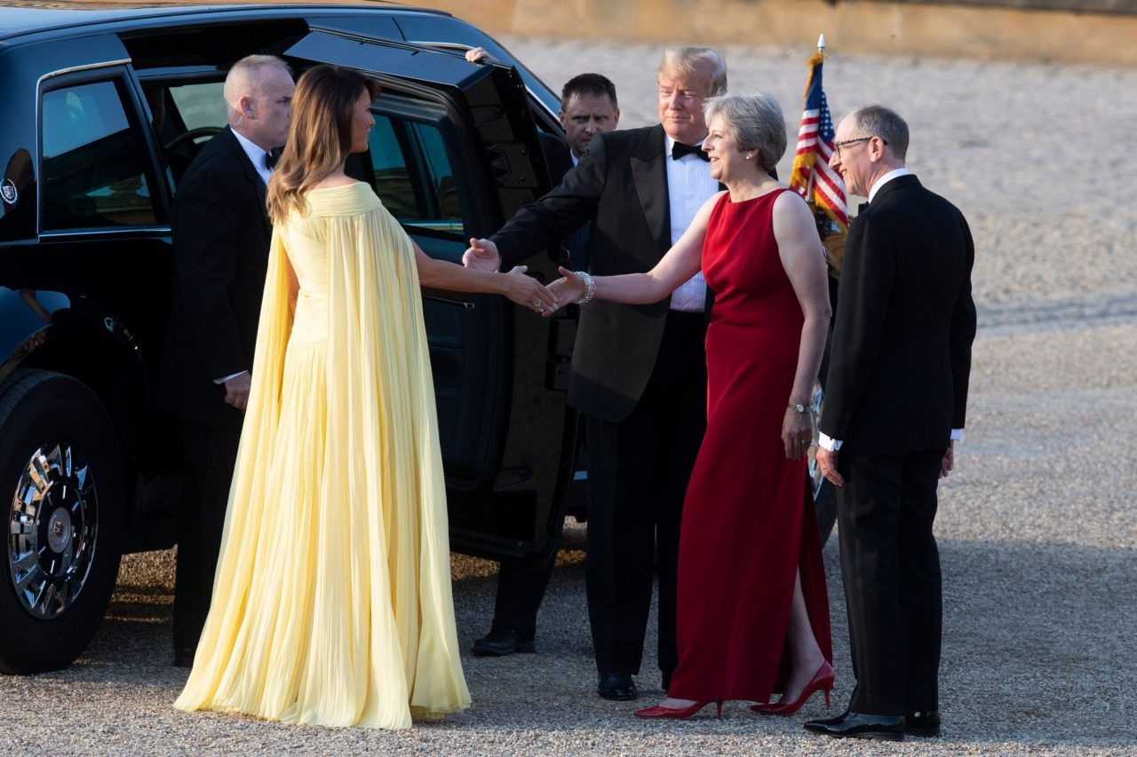 Photos Gorgeous Melania Trump Looks Like A Princess In Her Yellow
