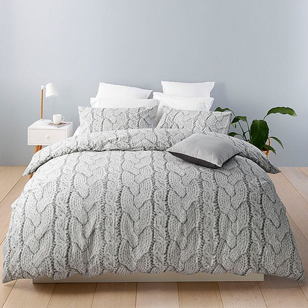 Oslo Knit Quilt Cover Set Target Australia Quilt Cover Sets Living Room Quilts Quilt Cover