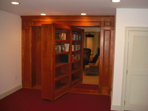 Rotating Bookshelf Door To Secret Room Hidden Rooms Secret Rooms Bookshelf Door