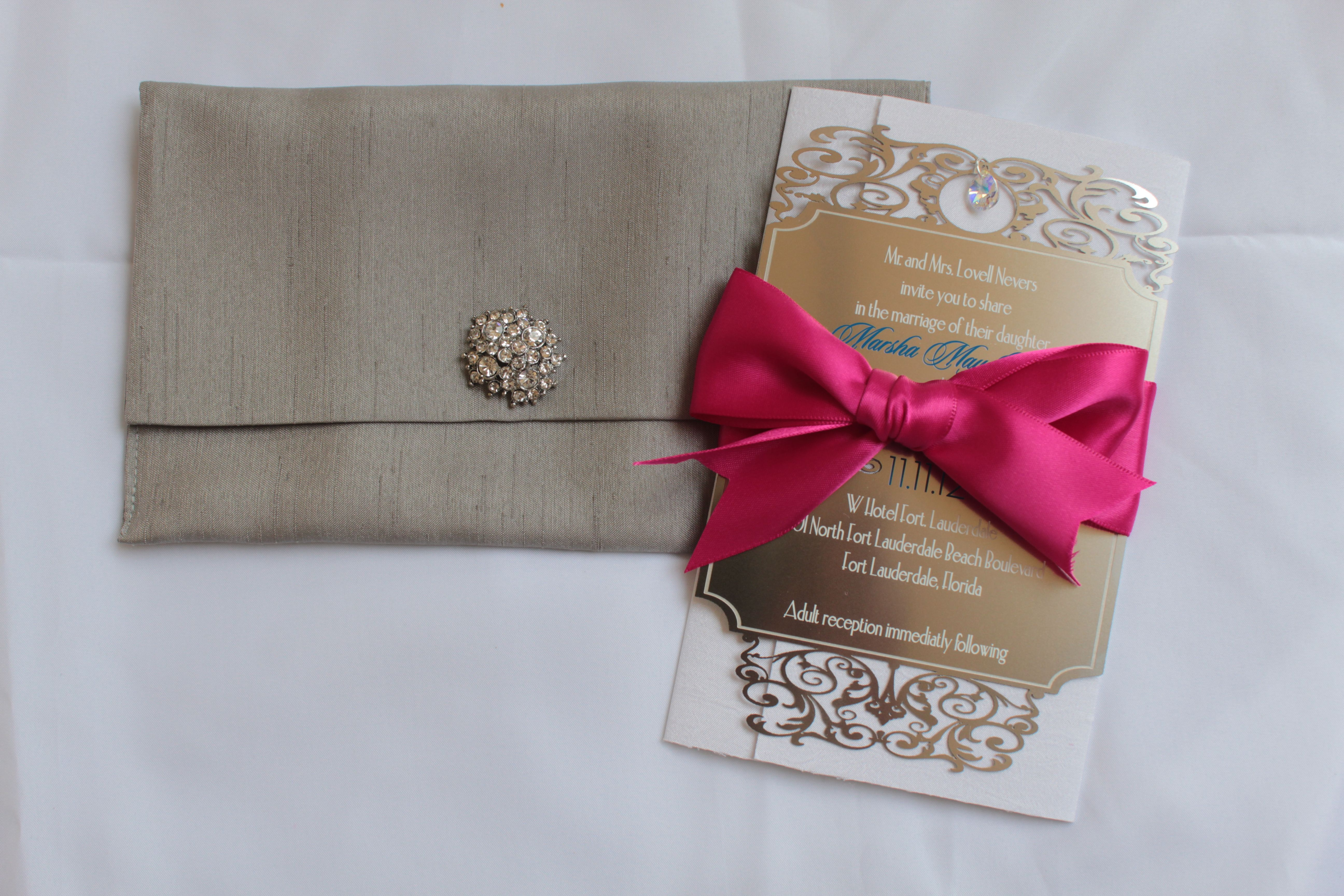 My Couture Metal wedding invitation.