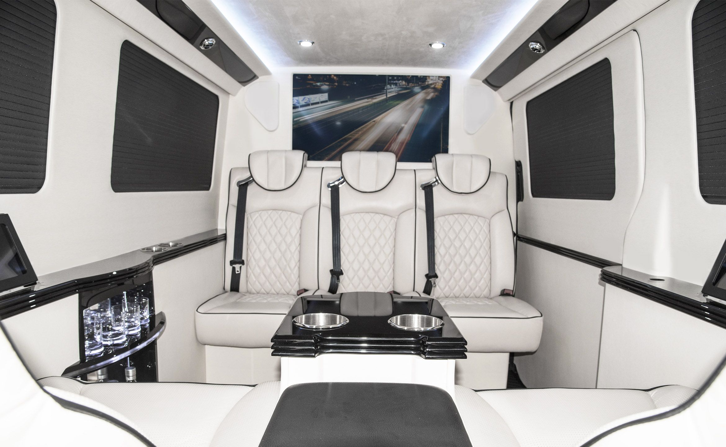 144 Executive Coach Custom Interior Mercedes Benz Sprinter Van Conversion