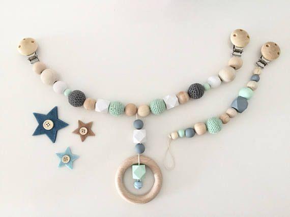 pram with crochet beads baby kinder kinder wagen und kinderwagenkette. Black Bedroom Furniture Sets. Home Design Ideas