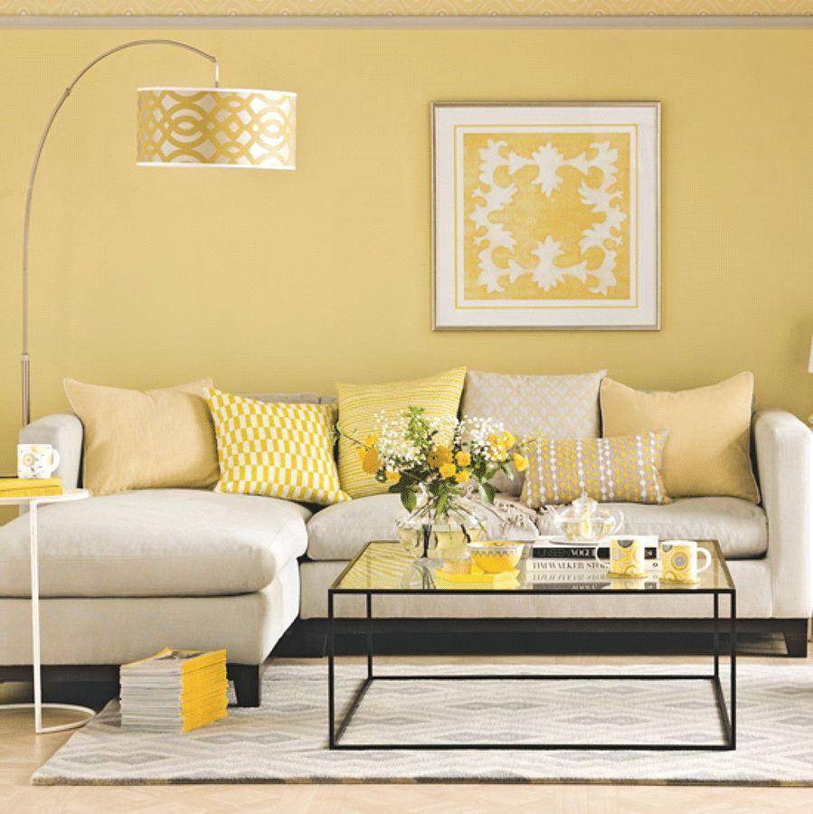 Pin On Cat Ruangan Living room yellow wall paint