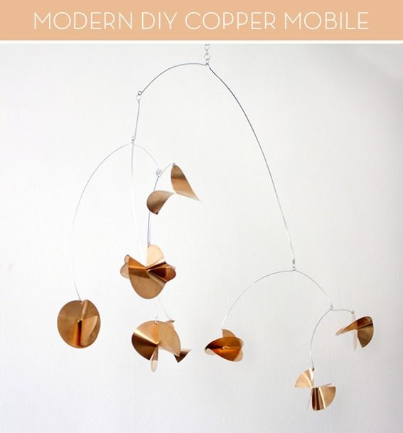 How to make a modern #DIY copper mobile!
