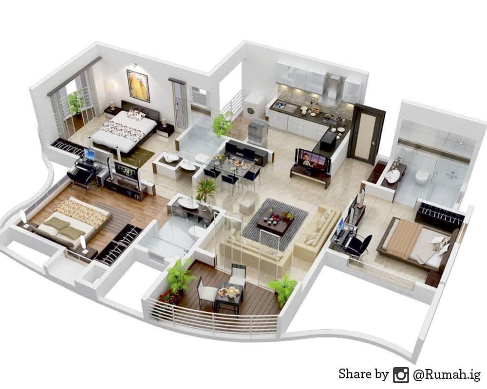 Desain Rumah Minimalis Dengan 3 Kamar Tidur Siapa Yang Mau Rumah