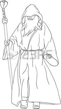 coloriage   Banque image, Merlin l'enchanteur, Photo libre