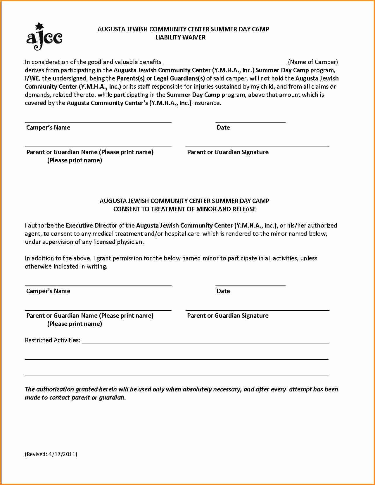 General Liability Waiver Form Template Lovely 28 Of Product Liability Waiver Form Template Liability Waiver General Liability Liability