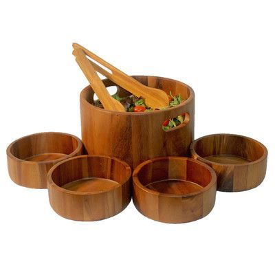 Woodard & Charles Elan 6 Piece Salad Bowl Set