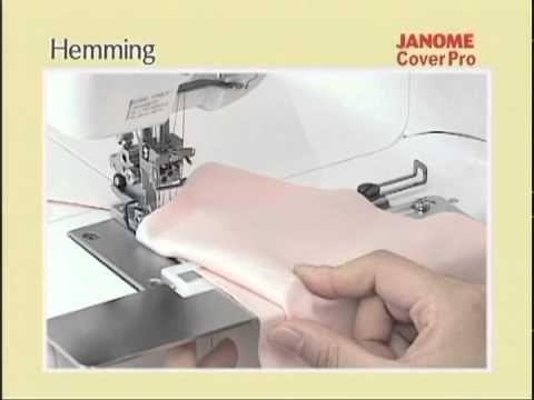 Распошивальная машина Janome Cover Pro - подрубка - YouTube
