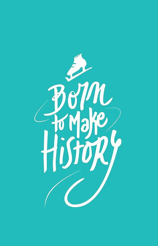 Born To Make History White Iphone Case By Sorceressdream Yuri On Ice Yuri History Wallpaper