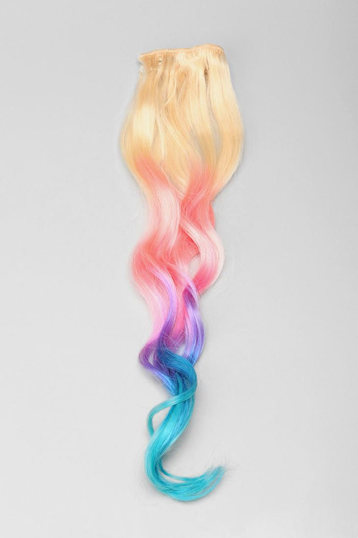Cloudjewels cotton candy ombre clipin hair extension online only