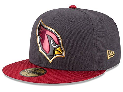 NEW ERA HAT Arizona Cardinals 5950 NFL Gold Collection Fitted Black CAP (7  1  c39ed32fb4da