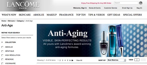FDA sent a warning letter to Lancome USA, taking issue with - Warning Letter