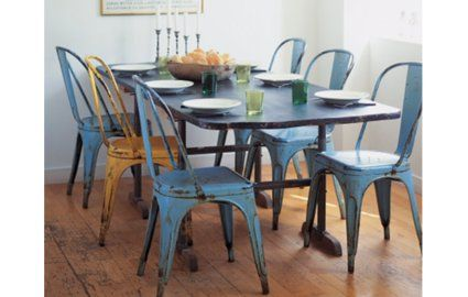 Metal Chairs In The Dining Room